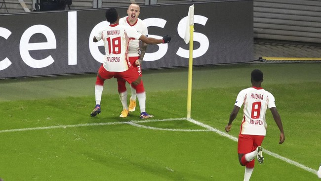 Foto Man United Tersingkir Usai Ditekuk Leipzig