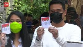 VIDEO: Ditemani Kahiyang, Bobby Nyoblos di Pilwalkot Medan
