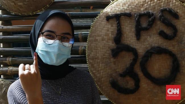 Protokol kesehatan diterapkan di TPS saat Pilkada serentak, termasuk di Kota Depok, Jawa Barat.