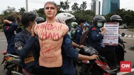 FOTO : Peringatan Hari HAM Internasional 2020, Buruh Bergerak