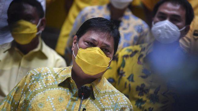 Ketum Partai Golkar Airlangga Hartarto enggan merespons persoalan Azis Syamsuddin yang diduga terlibat suap Wali Kota Tanjungabalai.