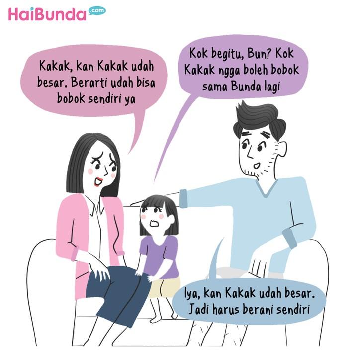 Komik Belajar Bobok Sendiri