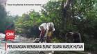 VIDEO: Perjuangan Membawa Surat Suara Masuk Hutan
