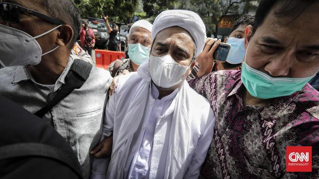 Rizieq Shihab akan menjalani sidang kasus kerumunan dan kasus tes swab RS Ummi di PN Jakarta Timur, Jumat (26/3).