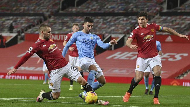 Persaingan Manchester City dan Manchester United di Liga Inggris masih menyisakan 12 laga sisa termasuk empat big match.