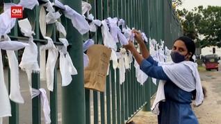 VIDEO: Warga Sri Lanka Protes Pemaksaan Kremasi Korban Covid