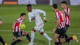 Hasil Liga Spanyol: Real Madrid Kalahkan 10 Pemain Bilbao