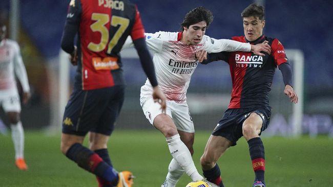 AC Milan bermain imbang 1-1 saat bertamu ke Genoa di pekan ke-12 Liga Italia. Sementara saudaranya, Inter Milan sukses mengalahkan Napoli 1-0.