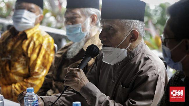 Amien Rais Cs saat membahas pembunuhan Laskar FPI bersama Presiden Jokowi di Istana sempat mengingatkan perintah Tuhan bahwa hukum harus diterapkan secara adil.