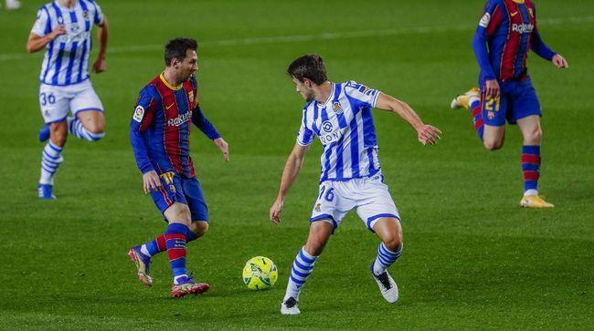 Barcelona berhasil mengalahkan Real Socieded 2-1 di pekan ke-13 Liga Spanyol. Dua gol dari Jordi Alba dan Frenkie De Jong memastikan tiga poin dalam laga ini.