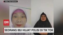 VIDEO: Viral, Seorang Ibu Hujat Polisi di Tik Tok