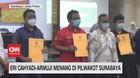 VIDEO: Eri Cahyadi-Armuji Menang di Pilwakot Surabaya