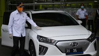 Menhub Pilih Mobil Listrik Hyundai buat Kendaraan Dinas