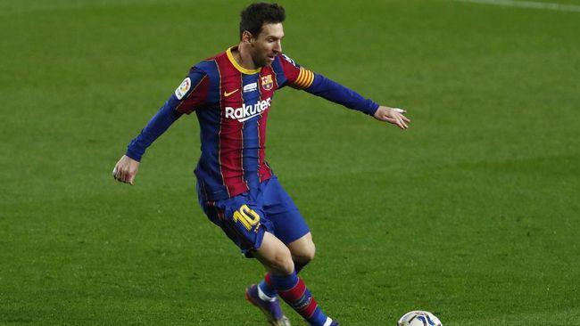 Lionel Messi dilaporkan masih mendapat bayaran dari Barcelona sebesar 39 juta euro atau Rp668 miliar hingga 2025, sekalipun dia angkat kaki di akhir musim.