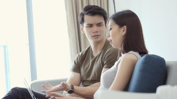 Ilustrasi pasangan bertengkar