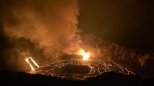 FOTO: Danau Lava dari Letusan Gunung Kilauea di Hawaii