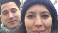 <p>Kedua bintang film Bulan Terbelah di Langit Amerika 2 ini juga membagikan throwback foto selfie pertama mereka. (Foto: Instagram @hannahalrashid)</p>