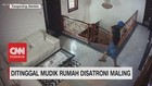 VIDEO: Ditinggal Mudik, Rumah Disantroni Maling