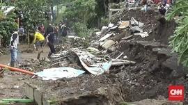 Tiga Kios di Ujungberung Bandung Hancur Diterjang Banjir
