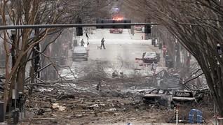 Luluh Lantak Gedung dalam Ledakan saat Natal di Nashville AS