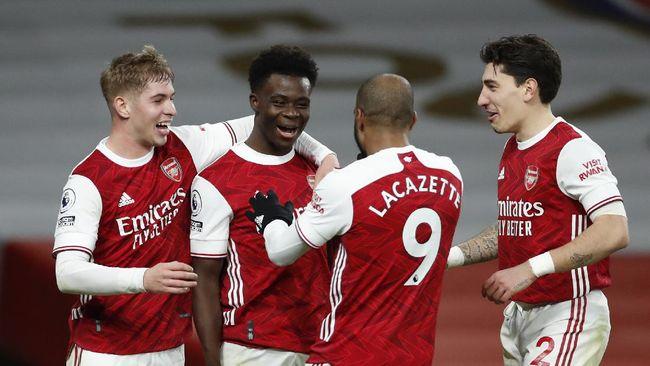 Pelatih Arsenal Mikel Arteta kini mulai waspada dengan Bukayo Saka usai The Gunners mengalahkan Brighton and Hove Albion 1-0.