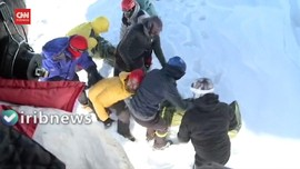 VIDEO: Salju Longsor di Pegunungan Iran, 10 Pendaki Tewas
