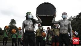 Buruh Demo Omnibus Law Bawa Keranda: Rasa Keadilan Mati