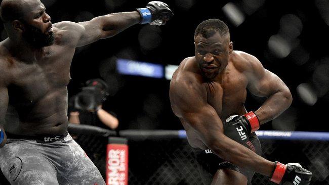 Pertarungan Jairzinho Rozenstruik vs Ciryl Gane di UFC Fight Night 186 berpotensi menghadirkan kemenangan KO cepat dalam hitungan detik.