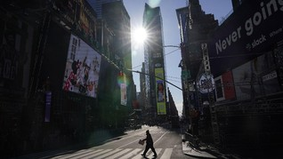Pakai Piyama Menyambut 2021 di New York
