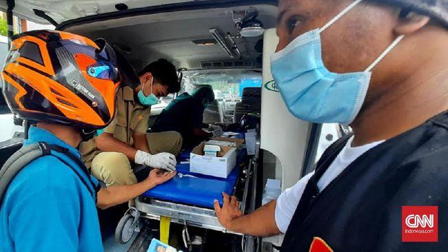 Dalam kegiatan rapid test massal di Ambon, seorang warga kabur usai terdeteksi reaktif Corona dan enggan menjalani swab.