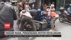 VIDEO: Hindari Razia, Pengendara Motor Kecelakaan