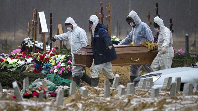 Rusia mencatat 852 kematian akibat Covid-19 dalam sehari pada Selasa (28/9), yang tertinggi sejak awal pandemi