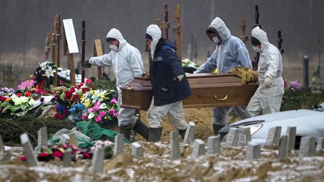 Rusia Catat 852 Kematian Covid, Rekor Sejak Awal Pandemi