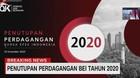 VIDEO: Penutupan Perdagangan BEI 2020, IHSG Merah