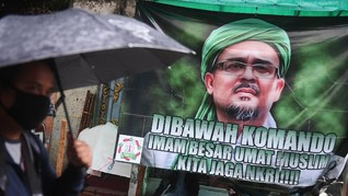 Rizieq Bandingkan Kasus Petamburan dengan Kerumunan Jokowi