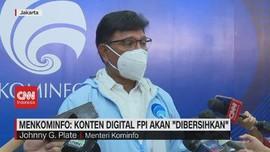 VIDEO: Menkominfo: Konten Digital FPI Akan 'Dibersihkan'