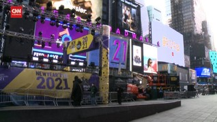 VIDEO: Times Square Bersolek Rayakan Tahun Baru dalam 'Diam'