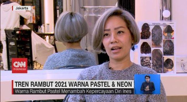 tren rambut 2021 warna pastel neon