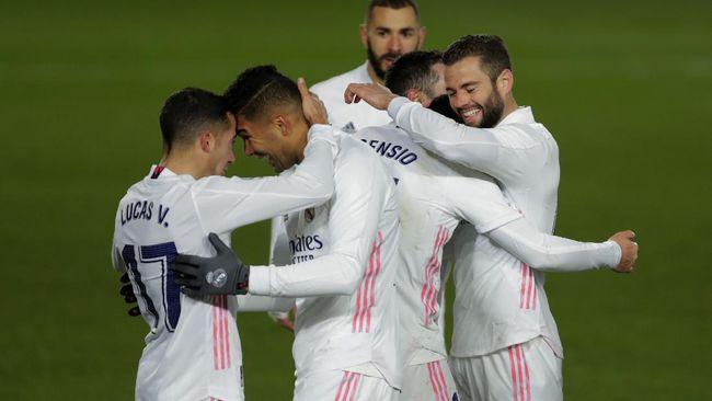 Real Madrid menang 2-0 atas Celta Vigo dalam pertandingan pekan ke-17 Liga Spanyol, Minggu (3/1) dini hari waktu Indonesia.