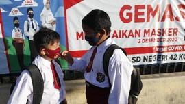 FOTO : Hari Pertama Sekolah Tatap Muka di Tengah Pandemi