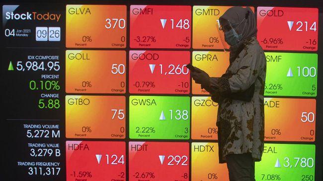IHSG menguat 0,48 persen ke level 6.079 pada perdagangan Kamis (15/4).