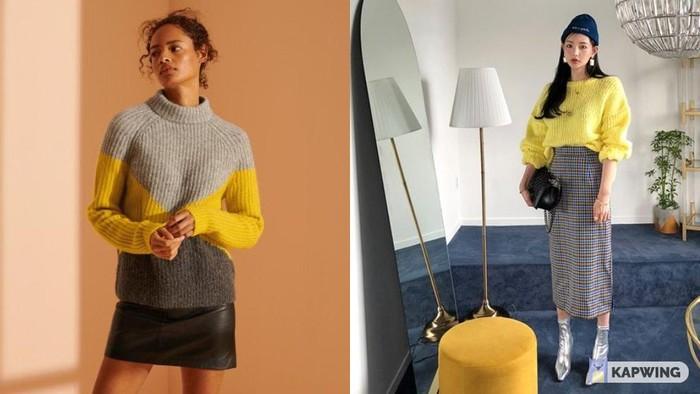 Inspirasi Fashion 2021 dengan Warna Kuning Cerah dan Abu yang Keren!