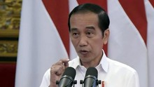 Jokowi Kunjungi Korban Banjir Kalsel Pakai Perahu Karet