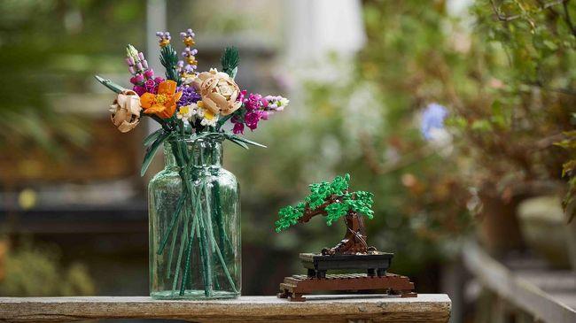 Lego untuk meluncurkan koleksi khusus bertajuk Botanical Collection dengan ragam bentuk tanaman hias seperti pohon bonsai dan buket bunga.