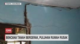 VIDEO: Bencana Tanah Bergerak, Puluhan Rumah Rusak