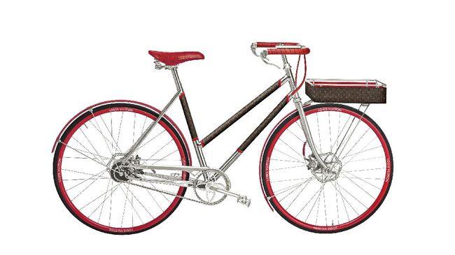 Demam sepeda yang tengah marak saat ini membuat rumah mode mewah Louis Vuitton menggandeng Tamboite Paris, artisanal sepeda dari Paris