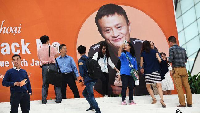 Jack Ma, pendiri Alibaba Group, didepak dari daftar pengusaha China oleh media pemerintah, Shanghai Securities News.