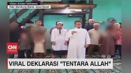 VIDEO: Viral Sekelompok Warga Deklarasi 'Tentara Allah'