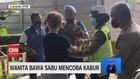 VIDEO: Wanita Bawa Sabu Mencoba Kabur dari Polisi