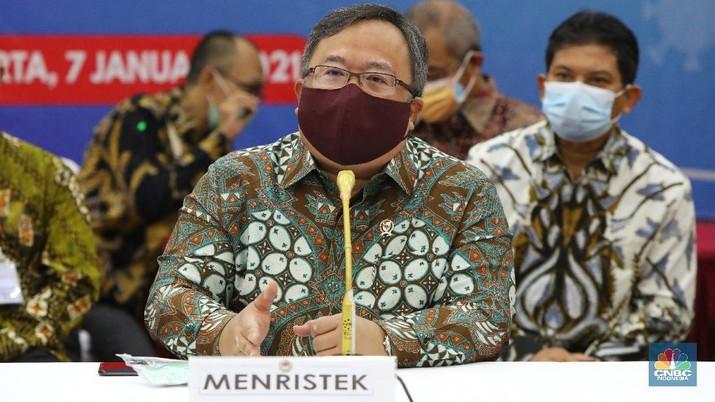 Menteri Riset dan Teknologi ( Menristek) Bambang Brodjonegoro (CNBC Indonesia/Andrean Kristianto)